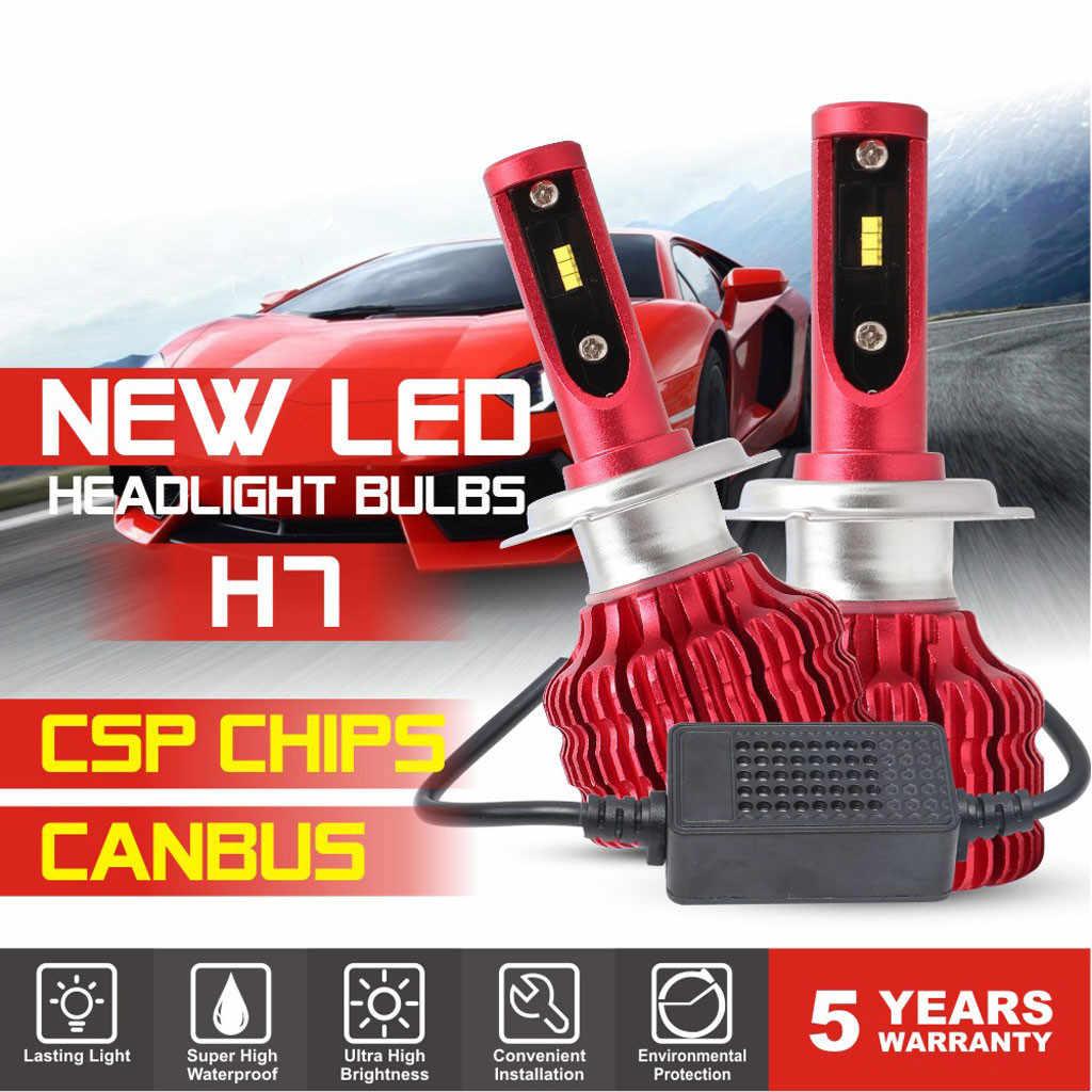 CARPRIE Car Headlight Bulbs(LED) 2019 hot sale New 2pcs H7 LED Waterproof Car Headlights Lamp Bulb 50W 10000LM 6500K White 9627