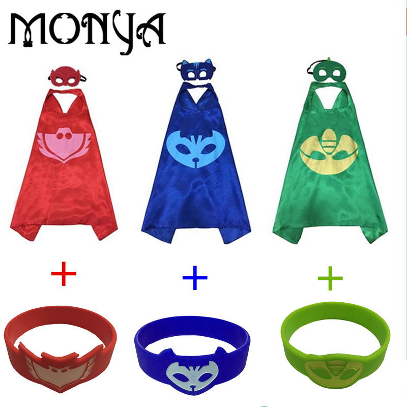 Cloak masks Catboy Gekko Owlette Plastic bracelet Cape masks sets Homegrown welcome to order goods hot sale open front geometry pattern batwing winter loose cloak coat poncho cape for women