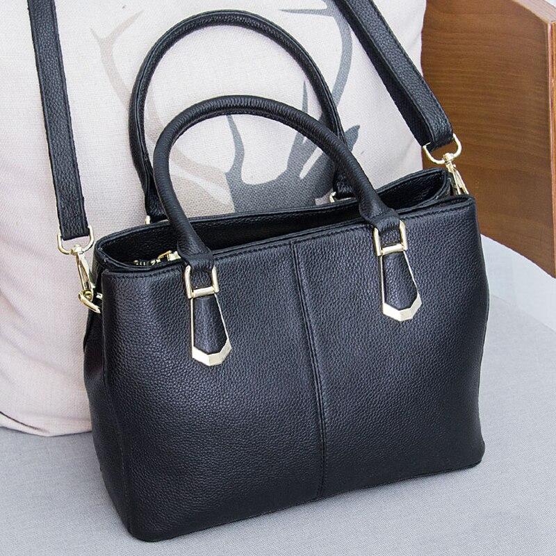 Sac à main de luxe en cuir véritable pour femme sac à bandoulière pour femme 2018 Totes sac de messager décontracté femme