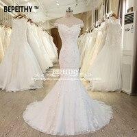New Design Mermaid Wedding Dress Sexy Off The Shoulder Robe De Mariage Beaded Lace Bridal Dresses Vestido De Novia Wedding Gown