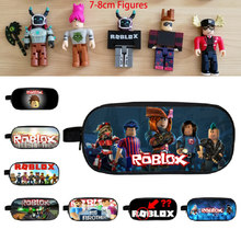 Roblox Figma Oyuncak Pencil Bags Pen Case Kid School Stationery Large Capacity Handbag Action Figures Toys Kid Gift Cosplay Mask(China)