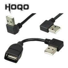 עד למטה שמאל ימין בזווית 90 תואר USB זכר לנקבה הארכת כבל USB מאצ ו hembra סוג M/F מתאם כבל קצר 10cm 20cm