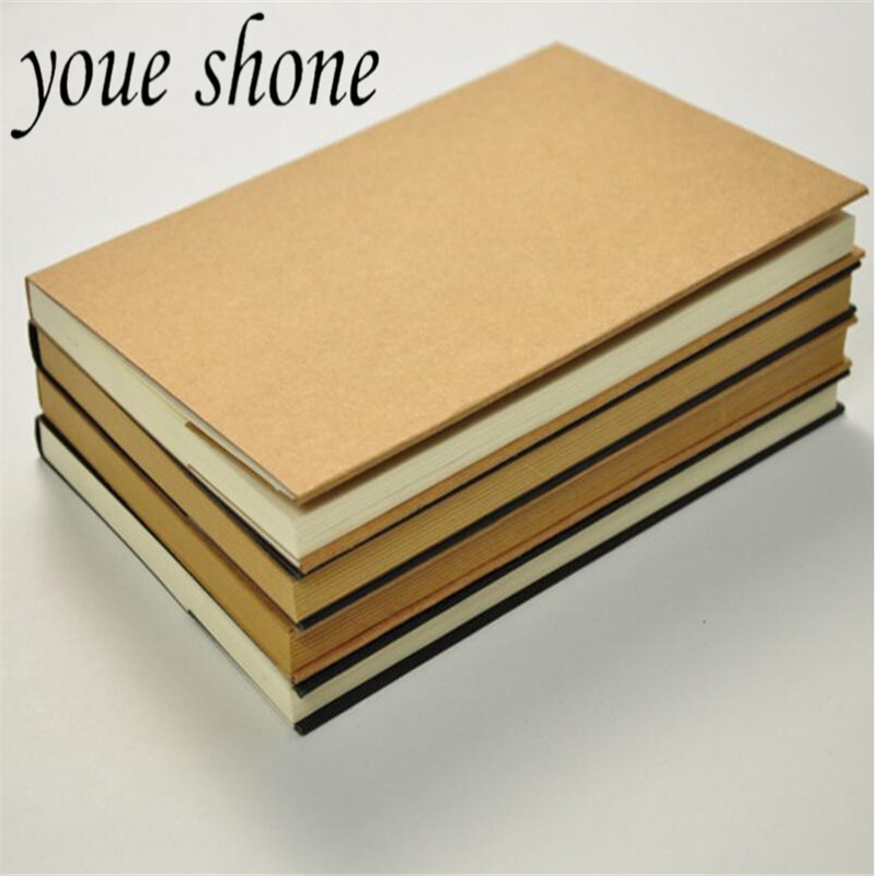 1Pcs 128 Pages Kraft Paper Notebook Diary Painting Hand-Painted Blank 32K Super Thick Sketch 0f The Sketch Book School Supplies