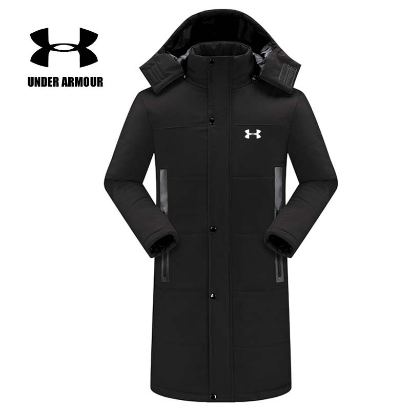 Under Armour Men Winter Jacket warm hooded Windproof running Jacket Chaqueta invierno Parent-child cotton coat Asian Size XS-5XL цена
