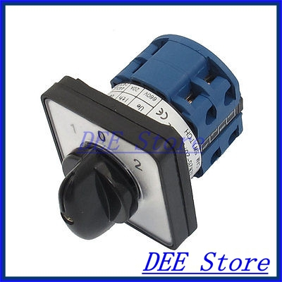 Electric 3 Position 8 Terminals Rotary Cam Changeover Switch 660V 20A ith 20a 8 screw terminals rotary combination cam switch