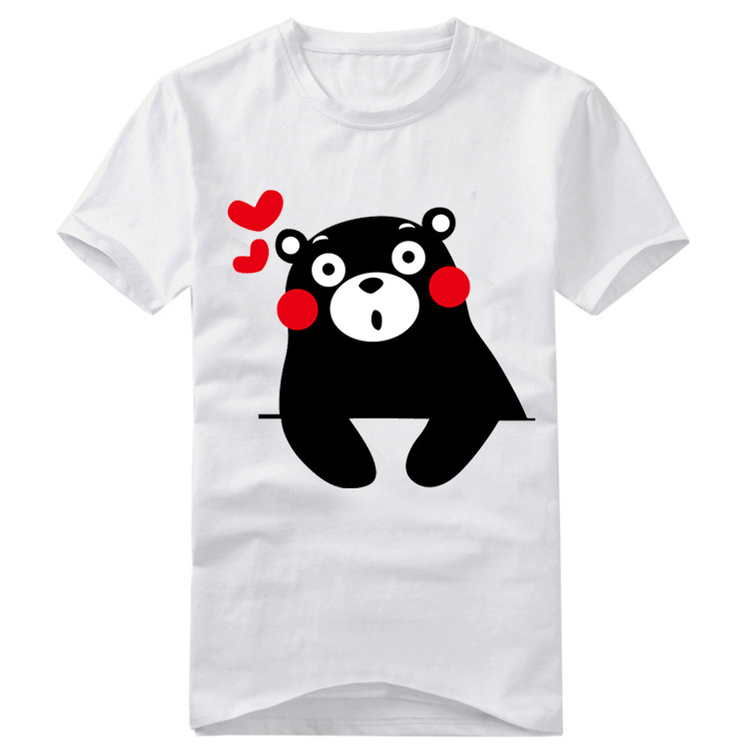 18Styles Cute Kumamon T-shirt Cosplay Costume Lovely Cartoon Bear Short Sleeve Round Neck Tee Shirt Daily Casual Tops