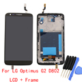 For LG Optimus G2 D802 LCD Touch Screen with Digitizer + Bezel Frame Full Assembly Replacement + Tools , Black Free shipping !!!