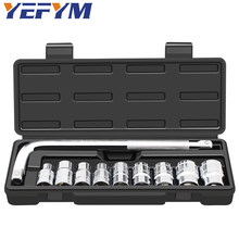 10pcs/set professional auto repair car protection tool set Hexagon socket wrench 8-24mm chrome vanadium steel material tools(China)