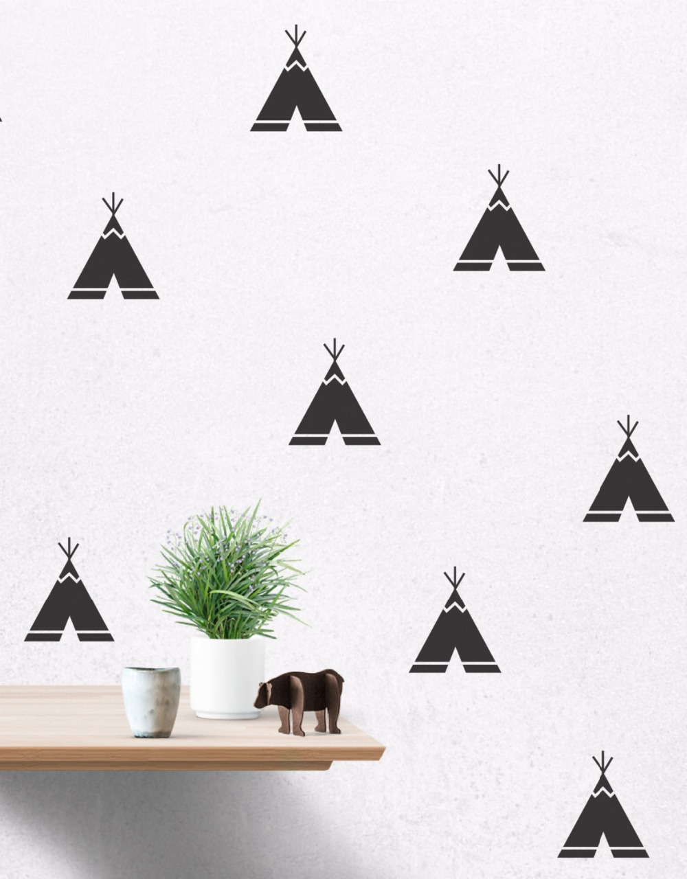 Home Decor Home & Garden Enthusiastic Fashion Teepee Pattern Wall Sticker For Kids Boys Bedroom Decoration Muurstickers Home Decor Wallpaper Baby Room Poster Ny-213 To Win A High Admiration