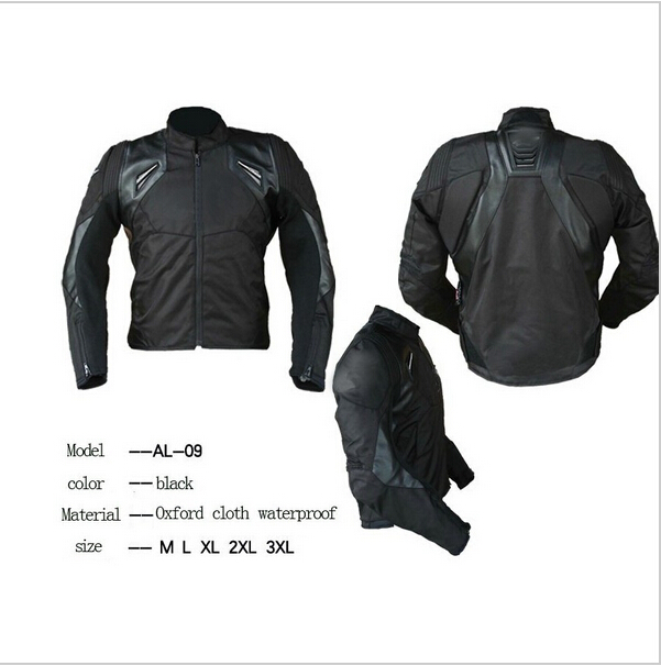 ФОТО Wholesale Professional motorcycle racing riding jacket Waterproof Oxford motocross jacket with 5pcs Protective gear