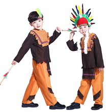 Free shipping Halloween children's clothing boys clothing Indian clothes Indian chief in national costume Jungle