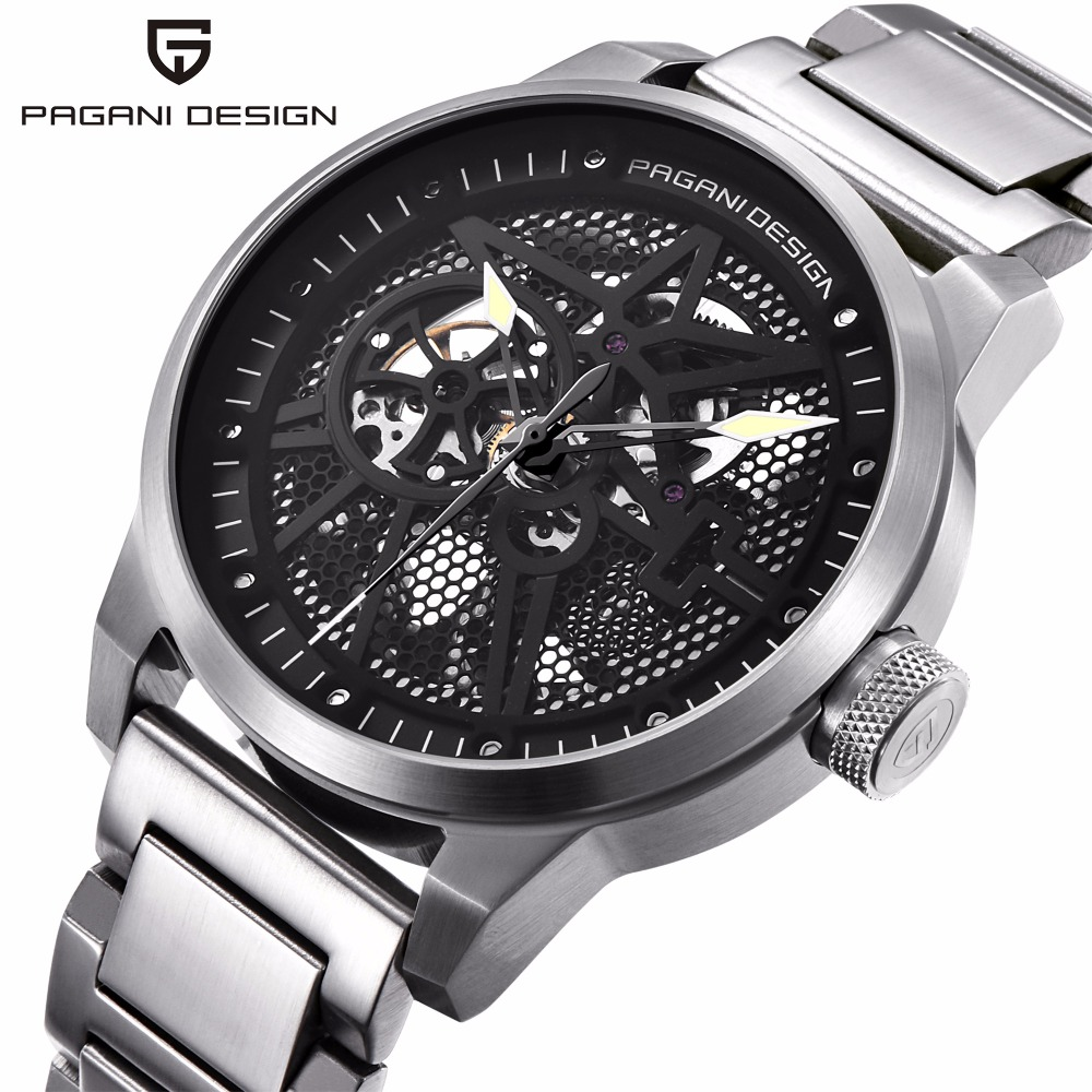Pagani Leather Tourbillon Waterproof Watch fashion Automatic Men Watch Men Mechanical Stainless Steel Watch Relogio Masculino