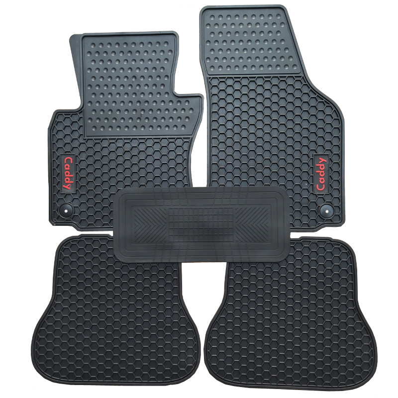 Special rubber car floor mats for Volkswagen Caddy durable waterproof latex carpets for Caddy special rubber latex green car trunk mats case for benz smart desinged for original car model