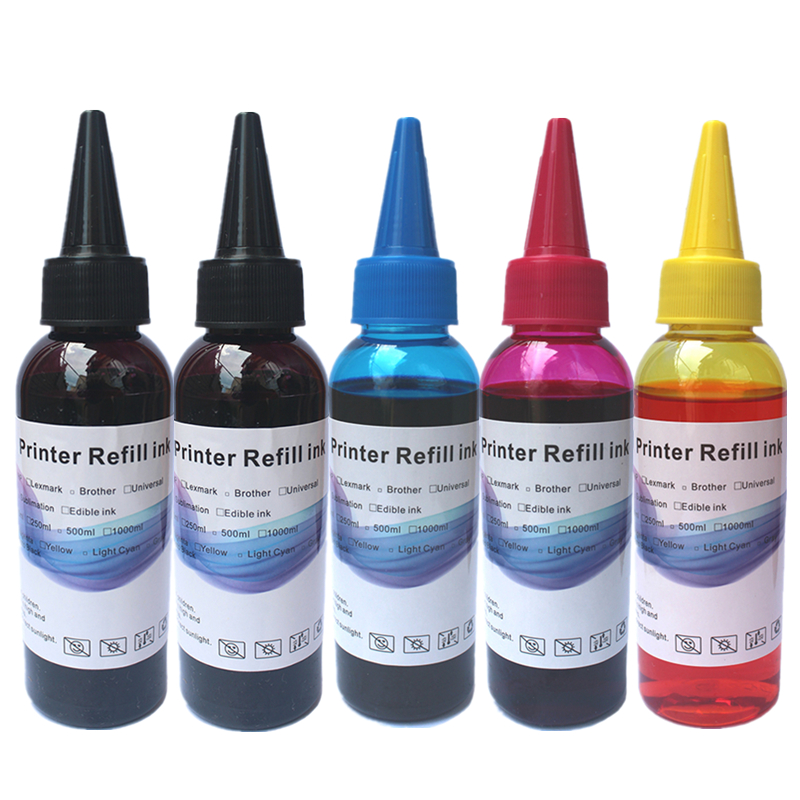Printer ink Refill kit for HP Color Printer paint for cartridges ciss bulk ink 5x100ml цены