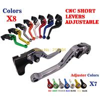 CNC Short Brake Clutch Levers For Yamaha FZ1 FAZER FZ6R FZ8 XJ6 FZ6 MT 07 09