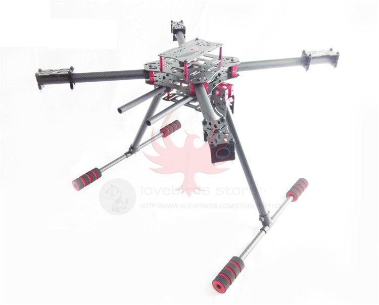 DIY FPV GF450 Aérienne quadcopter drone fixe pur cadre en fiber de carbone démontées manuel pliant landing Gimble de montage tige