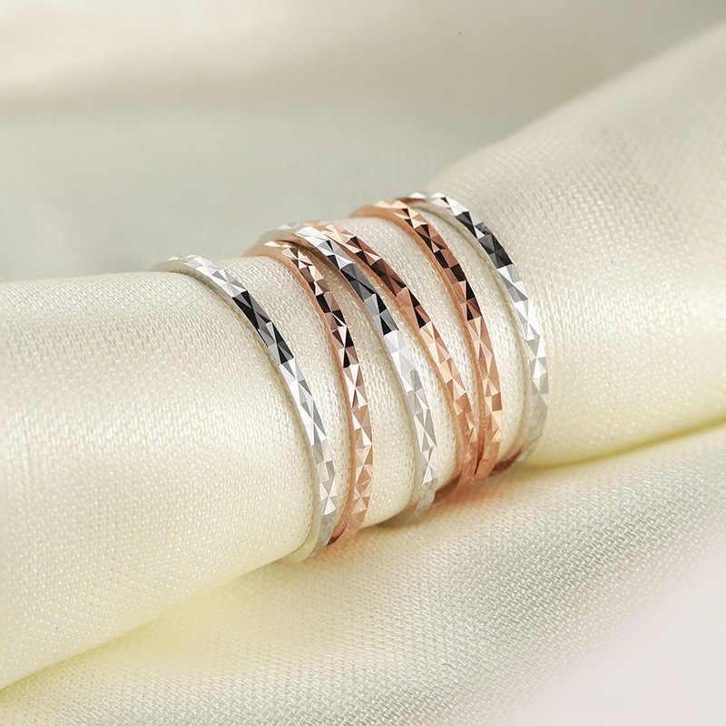Simple 925 แหวนเงินแฟชั่นผู้หญิง Rhombus รูปแบบงานแต่งงานแหวน Lady Party เครื่องประดับนิ้วมือแหวน Knuckles