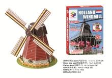 Vendas Hot jigsaw puzzle Holland pinwheel modelo 3D puzzle brinquedos Educativos tridimensional puzzles para crianças e adultos