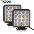 TC-X 2 pcs 16 x 3W LED Work Lights Car Trailer Tractor Truck Light Fog Lamp Square Flood Extra Bright for Boat Wholesale