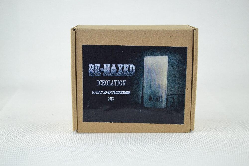 Re-Maxed Iceolation (DVD + Gimmick) Tours de Magie Magiciens Accessoires de Scène Illusion Comédie Mentalisme Carte Signée dans glace Magia