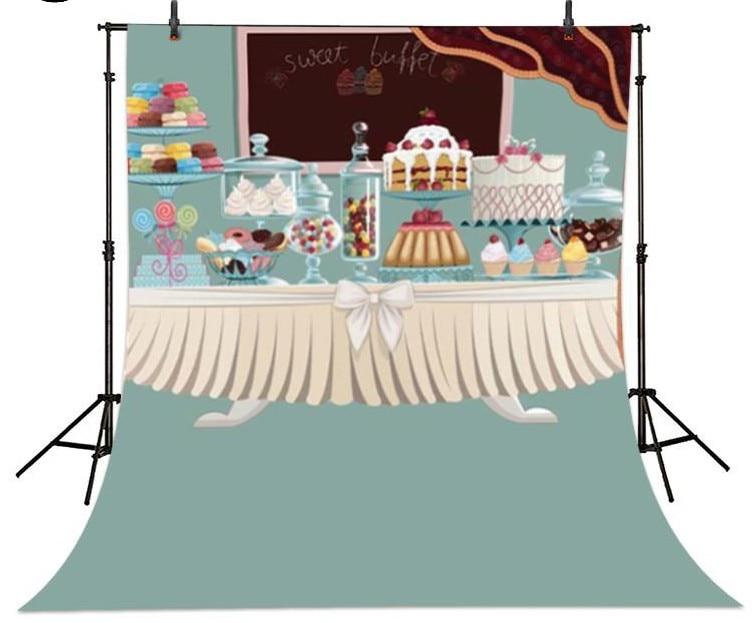 Принцессы пирожки шоколадное мороженое фонов винила высокого качества Ткань Компьютер печатных дети фотографии Фоны