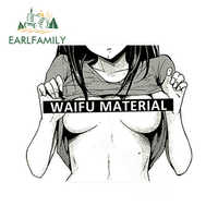 EARLFAMILY 13cm x 12cm Car Styling Waifu Material Vinyl Decal Car Truck Anime Hentai Sexy Pinup Mang Girl Waterproof Car Sticker