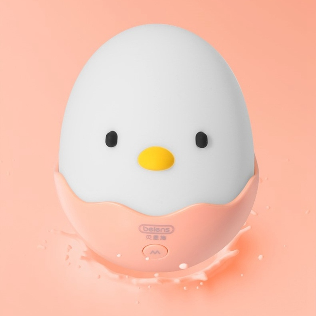 Beiens-Baby-Toys-Chick-Tumbler-Infant-LED-Night-Light-Silicone-Puzzle-Toy-Kids-Mobile-Musical-Toys