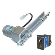 DIY дизайн AC 220 В линейный привод возвратно-поступательный электродвигатель 9-600 об/мин 30-100 мм ход+ контроллер скорости ШИМ линейный привод