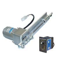 DIY Design AC 220V Linear Actuator Reciprocating Electric Motor 9 600rpm 30 100mm Stroke + PWM Speed Controller Linear Actuator