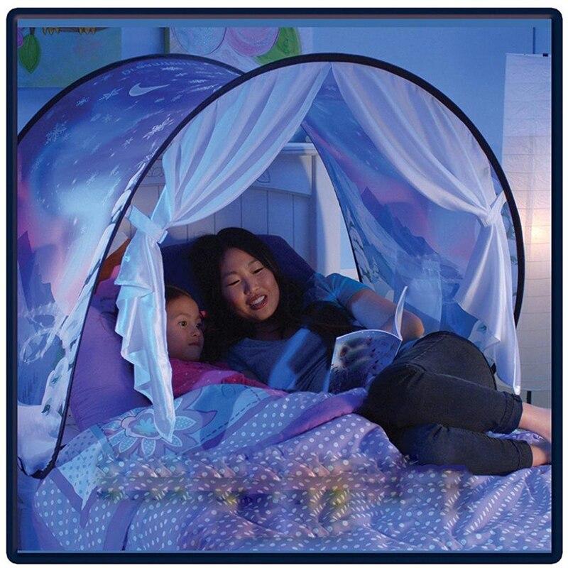 Crianças Brinquedos Casa de Jogo Tenda Winter Wonderland Princesa Tendas Chidren Casa Tenda Dobrável Interior Portátil Aventura Brinquedo Para Crianças