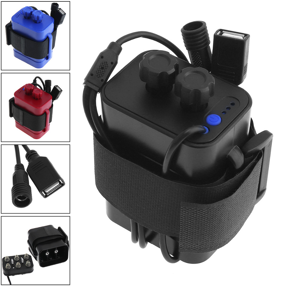 18650 Battery charger Practical Bicycle Bike LED Light / Mobile Phone Waterproof Battery charger Case Box 6x18650