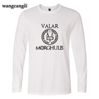 Game Of Thrones VALAR 2017 New Long Sleeve T Shirts Men Women Autumn Designs Tee Shirt