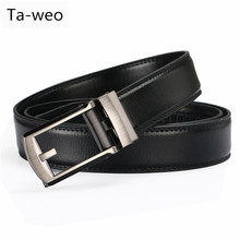 Ta-weo Men's Leather Belts, Ratchet Clic