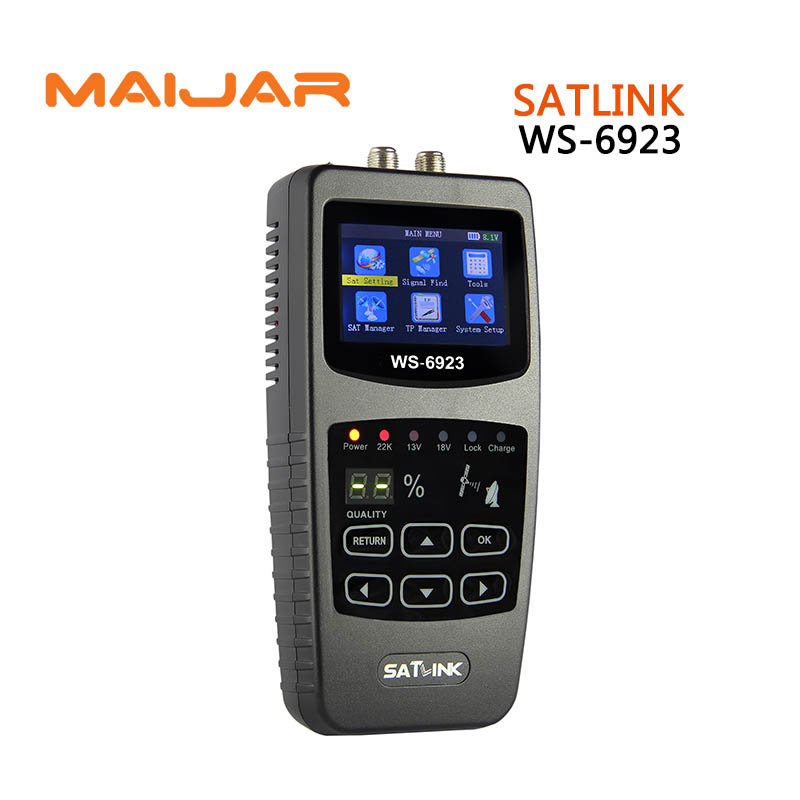[GENUINE]Digital satellite finder WS6923 meter original  satlink  ws-6923 satellite signal search  satlink 6923 finder original satlink ws 6965 digital satellite meter fully dvb t