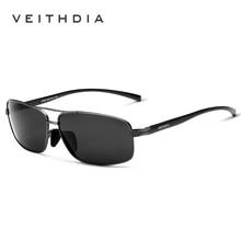 VEITHDIA Brand Polarized Men's Vintage Sunglasses Aluminum Frame Sun Glasses Men Goggle Eyewear Accessories For Men 2458