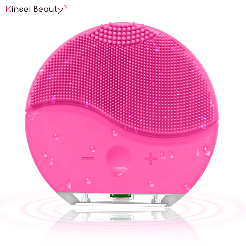 Electric Silicone Facial Cleansing Brush Sonic Vibration Massage USB Rechargeable Smart Ultrasonic Face Cleaner Beauty Tool
