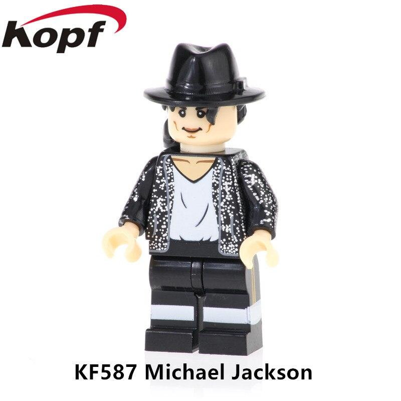 KF587 строительные блоки Super Heroes Майкл Джексон Элвис Арон Rresley Действие Figuers сборные кирпичи для детей игрушки подарок