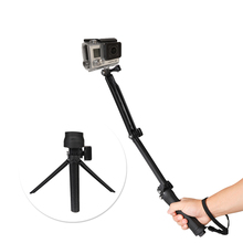 Go pro 3-Way Hand Grip Tripod Mono-pod Selfie Stick for Gopro7 6 5 4 3 2 SJ4000 SJ8Pro Yi 4K DJI OSMO Action Camera Accessories zwo asi 290mm mono usb 3 0 astronomy camera