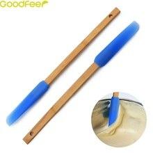 Goodfeer лопатка с деревянной ручкой силиконовая головка подвесное отверстие антипригарная термостойкая лопатка крем скребок для масла кухня и столовая