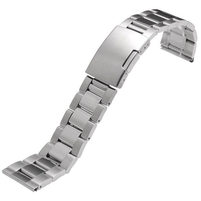 559d80eb1c72 Acero inoxidable Correas de reloj para diesel fósil luminox hombres relojes  banda 24 26