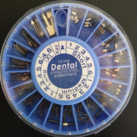 120pcs Box Stainless Steel Screw Post 120pcs 2Key Dental Screw Post Dental Supplies