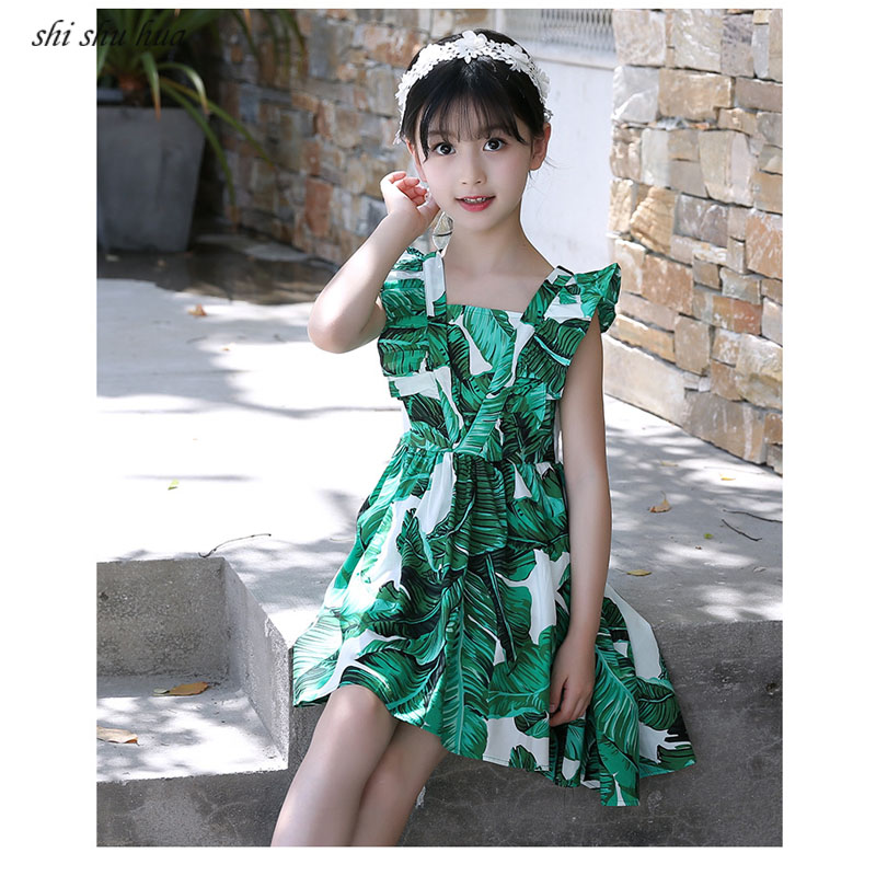 Girls Dress Sleeveless Princess Tuxedo Print Roupas Infantis Menina 4 12 Y Children 39 s Quality Clothing Ball Gown 2019 Hot Sale in Dresses from Mother amp Kids