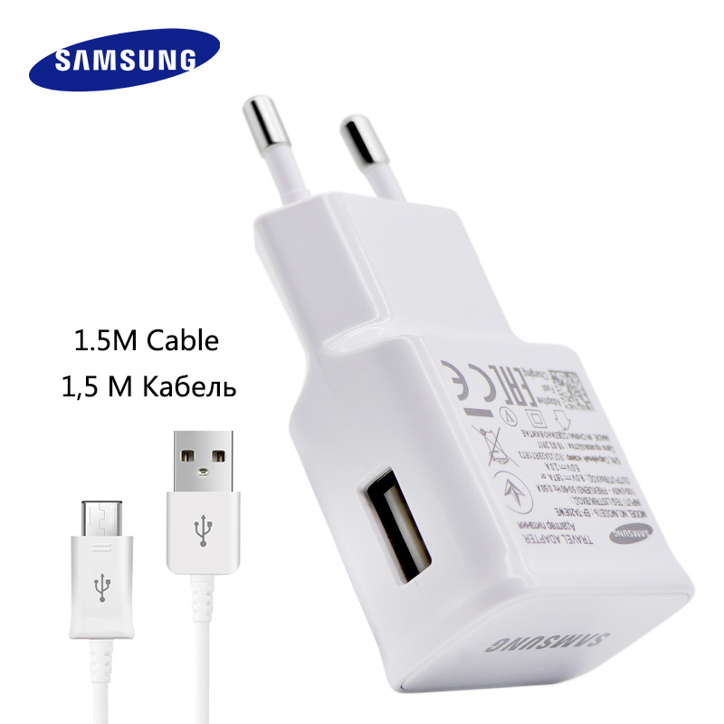 100% Original Samsung Schnelle Ladegerät Galaxy Hinweis4 5 S7 6 rand Adaptive Quick Charge 9V1. 67A & 5V2A 1,5 Mt Micro Usb-kabel wand ladegerät