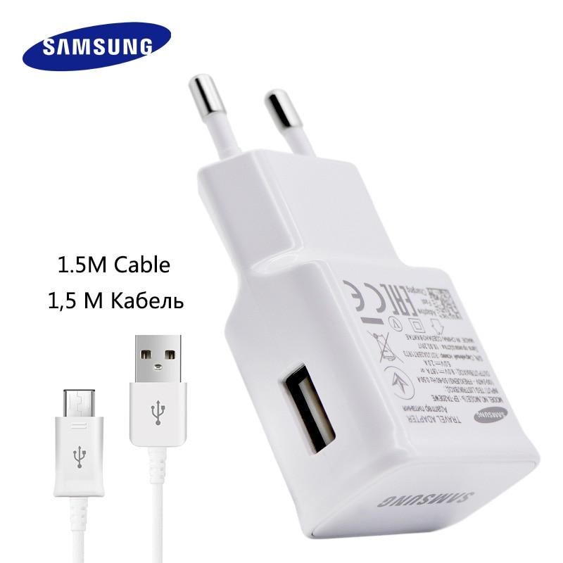 100% Originale Per Samsung Fast Charger Galaxy Note4 5 S7 6 bordo Adaptive Ricarica Rapida 9V1. 67A & 5V2A 1.5 M Micro Cavo USB da parete caricatore
