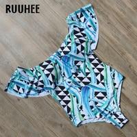 RUUHEE Brand One Piece Swimsuit Swimwear Women Bodysuit Sexy Push Up Bathing Suit Monokini Maillot De