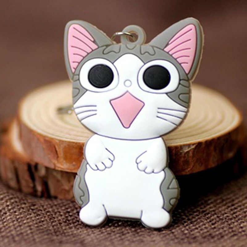 Original Novo Anime Bonito Da Menina Chaveiro Trinket Kitty Silicone Tom e Jerry Dos Desenhos Animados Chaveiro Chave Anel Titular Jóias Presentes De Casamento