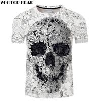 Футболка 2020, 3D футболка с черепом, Мужская футболка, мужская летняя футболка высокого качества, Camiseta, короткий рукав, круглый вырез, хип-хоп, ...