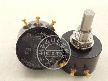Original new 100% US import conductive plastic potentiometer 3437S-1-203 20K LIN + 0.5% (SWITCH)