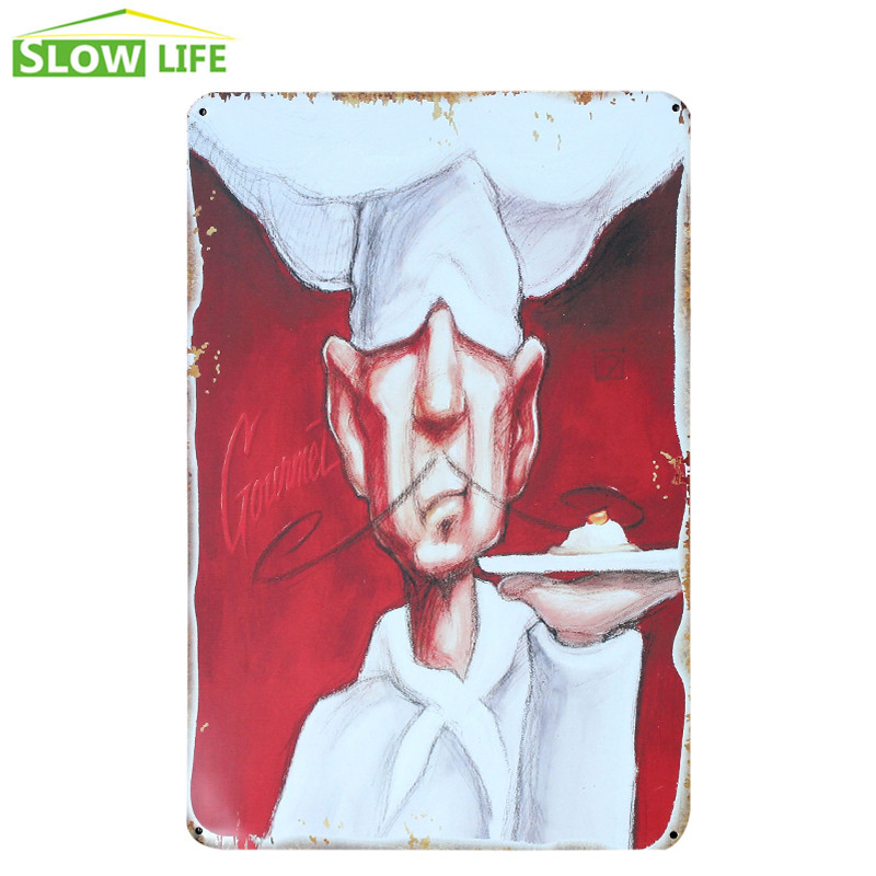 The Chielf Chef Metal Tin Sign Hotel/Cafe/Bar Wall Decor Metal Sign Vintage Home Decor Metal Plaque Retro Painting Metal Plate
