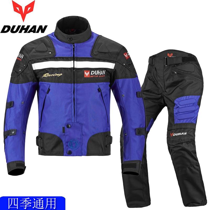 DUHAN Moto course vestes et pantalons armure corporelle protection Moto veste Motocross tout-terrain Dirt Bike équitation coupe-vent vêtements